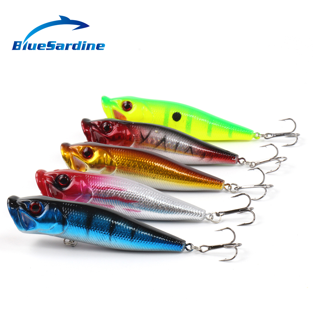 5PCS 10CM 12G Top Water Poppers Fishing Lures Hard Bait Plastic Lures Fishing Tackle(China (Mainland))