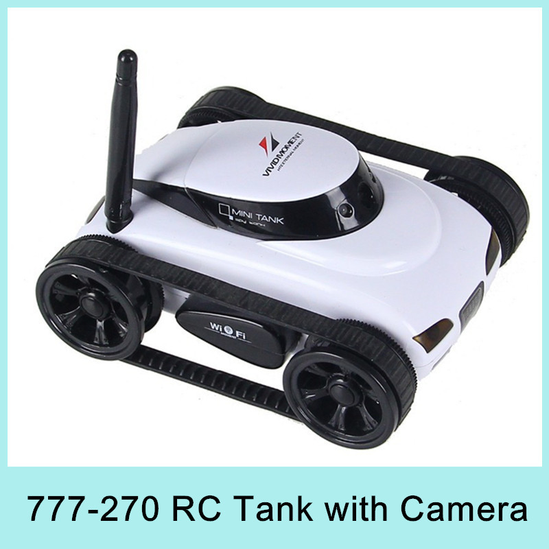 Mini 4CH RC Tank Controlled by IPhone/iPad/Android/IOS Device Wifi Remote Control Toys 777-270 Best Gift For Children 2015(China (Mainland))