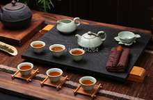 Chinese Ru Kiln Celadon Ware Gongfu Tea Set * 9 Pcs & Gift Box