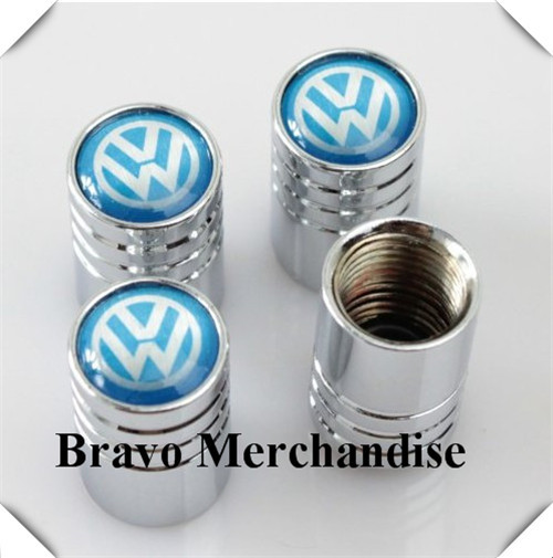 4caps/set cars accessaries wheel tire tyre valve caps lengthened covers with vw car logo brands emblem badge(China (Mainland))