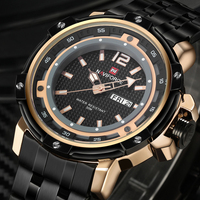2016 New Brand Fashion Men Sports Watches Men s Quartz Hour Date Clock Man Stainless Steel