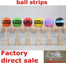 Japanese Traditional Wood Game Beech Professional Kendama Ball Bilboquet Bilbocatch Size 18.5CM 100pcs(China (Mainland))