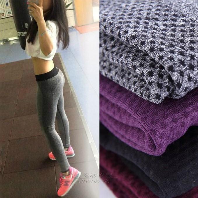 female gym exercise bodybuilding high waist sports pants running fitness legging quick dry elastic women push
