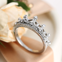 Buy 2016 new Korean Style Retro Crystal Drill Hollow Crown Shaped Queen Temperament Rings Women Party Wedding Ring Jewelry for $1.03 in AliExpress store