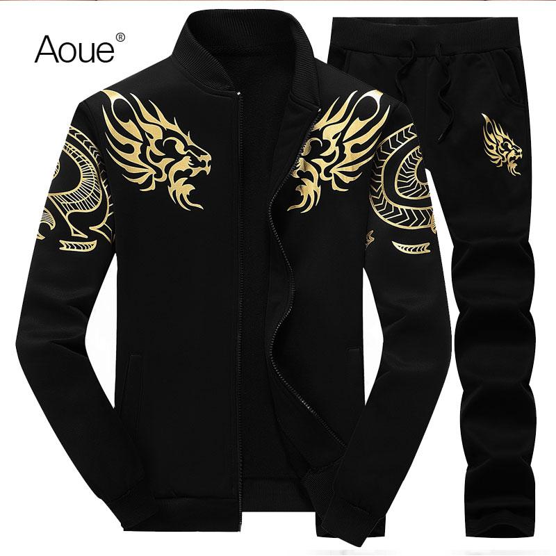 Aoue Men Winter hoodies Sporting Suit Mens Sweatshirt blank Sportswear hooded hoody men Tracksuits 2pcs sportsuit(China (Mainland))