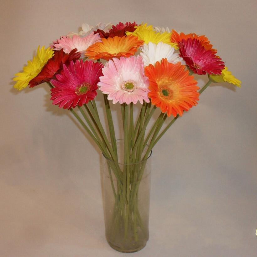 PU Gerbera/African daisy beam High simulation flowers silk flowers fake flowers for floral arrangement sitting room adornment(China (Mainland))