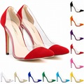High Heels Shoes Sexy Women s Pump Big Size 40 42 Flock Classic Shallow Velvet