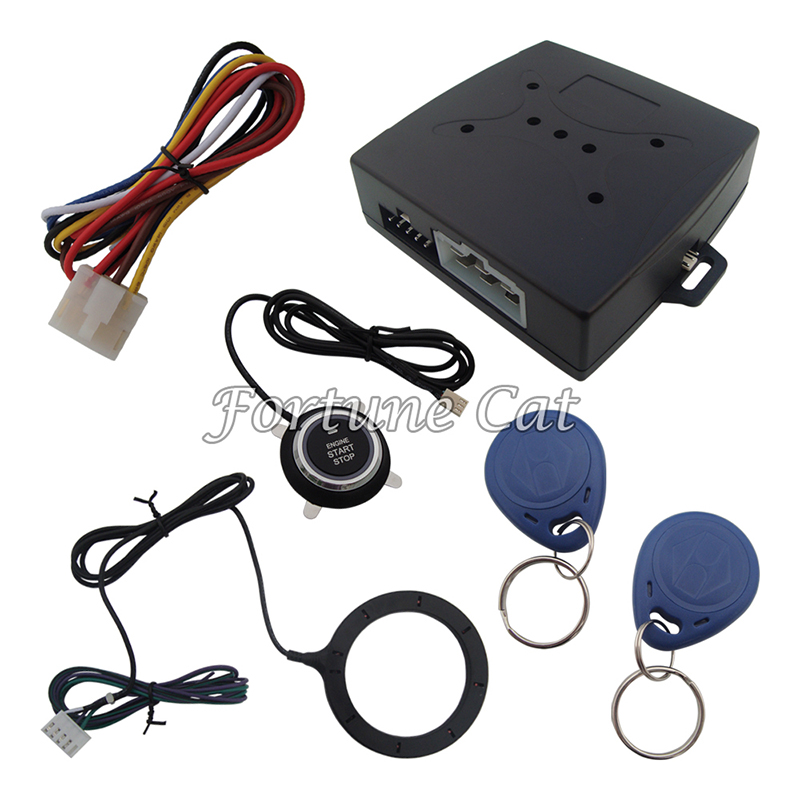 Stock In USA & Australia! RFID Car Alarm Release Engine Automatically Push Button And Transponder Card Learning Code System(China (Mainland))