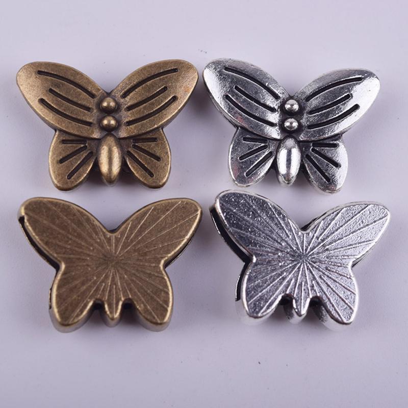 60Pcs/Lot Tibetan Silver Tone Butterfly Bronze Beads European Charms Pendant Bracelet Jewelry DIY Jewelry Findings Handmde 2016(China (Mainland))