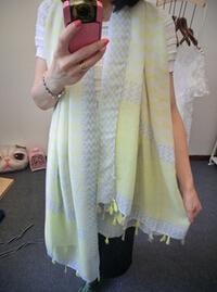 Summer Style Big Siz Sunscreen Print Scarves&Showls For Women Light Yellow Tassel Foulard Pashmina Wholesale Accessory(China (Mainland))