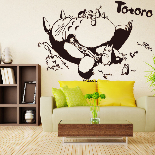 Totoro Vinyl Wall Decal Japanese Cartoon Sticker Kids Bedroom Living Room Anime Home Decorative Decoration - CANTON V STORE store
