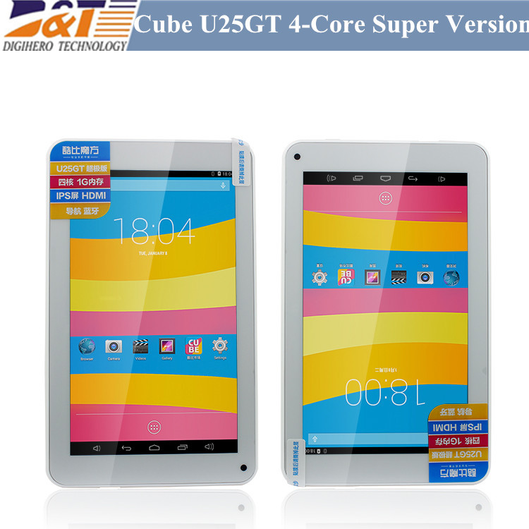 Original 7inch Cube U25GT Super Edition Quad core MTK8127 1GB / 8GB WIFI 1024*600 IPS Capacitive Screen Table PC(China (Mainland))