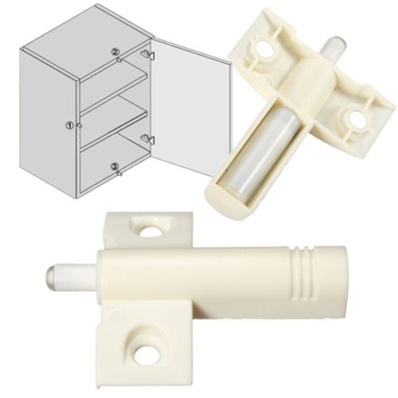 10PCS White Door Cabinet Cupboard Quiet Damper Buffer Soft Cabinet Catches Closer Cushion Close For Kitchen Accessories(China (Mainland))