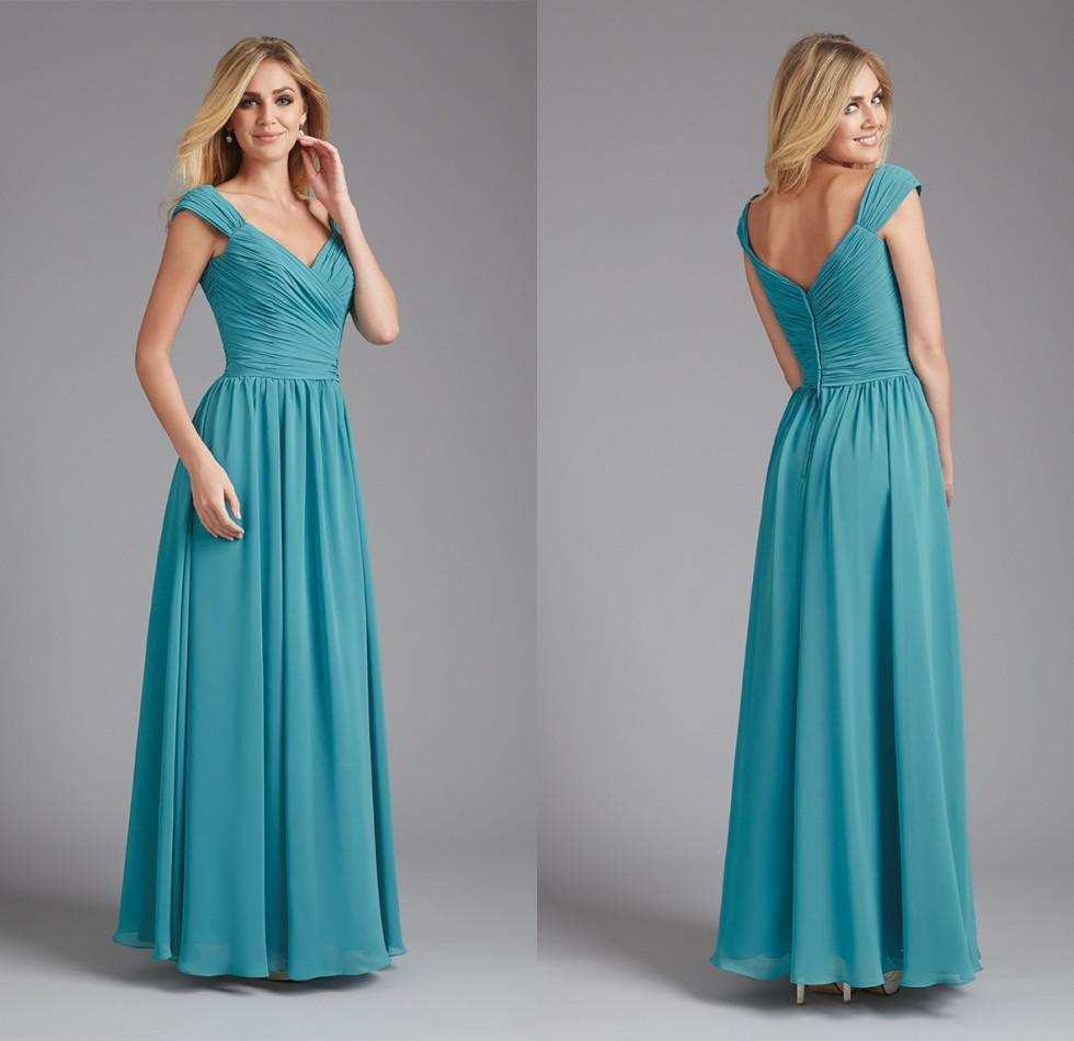 Modest Bridesmaid Gowns With Sleeves: Modest teal blue short ...