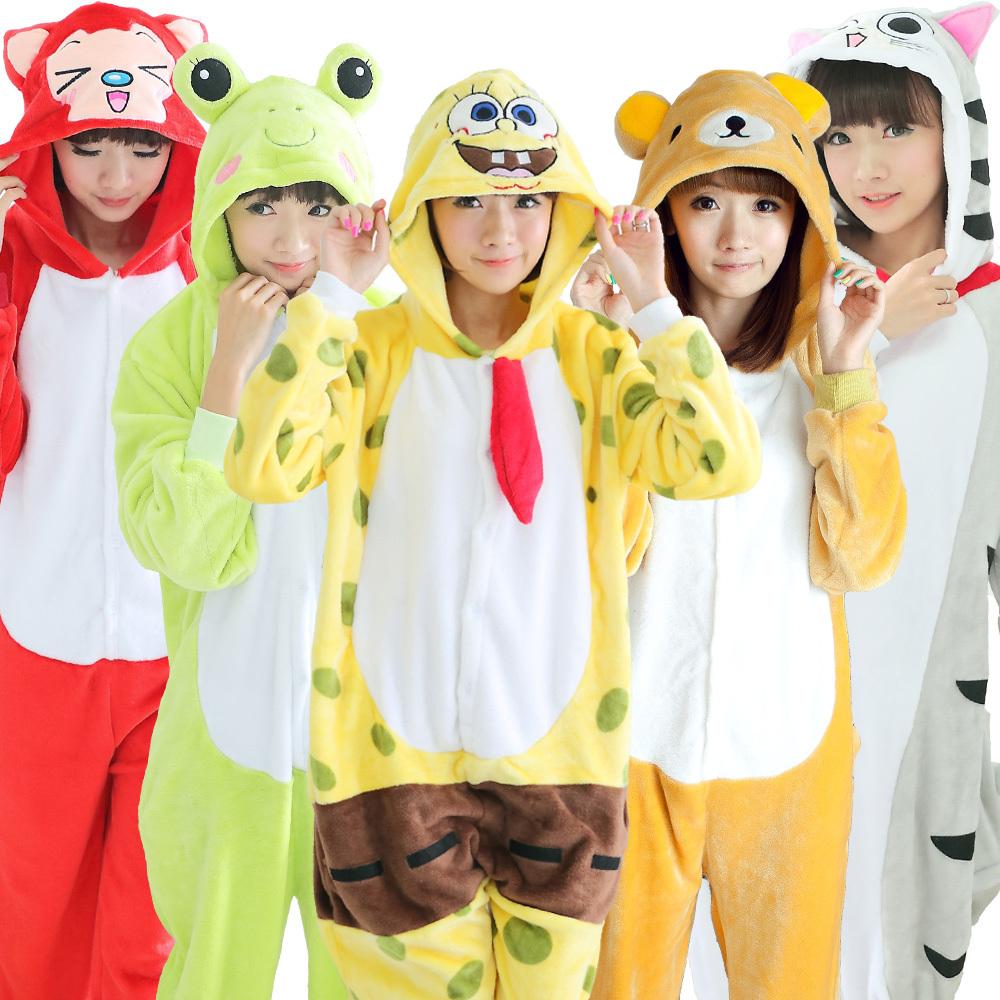 22 Styles Unisex onesies for Adult cosplay pajamas women pajama set animal pajamas one piece femme unicorn stitch totoro suit(China (Mainland))