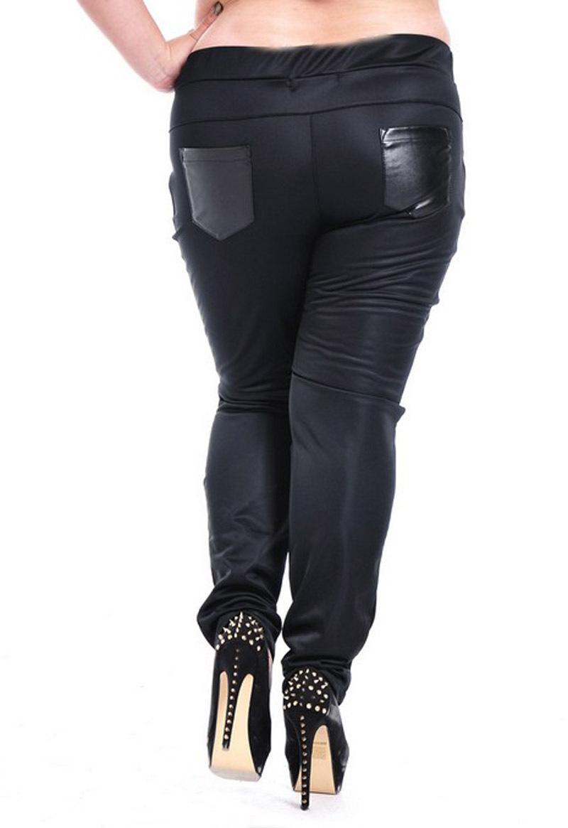 Luxury Women39s Faux Leather Pants Women39s Leather Leggings