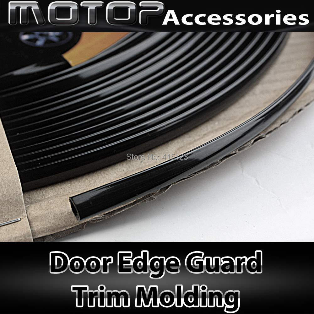 40 feet 1220cm chrome black door edge guard u style trim