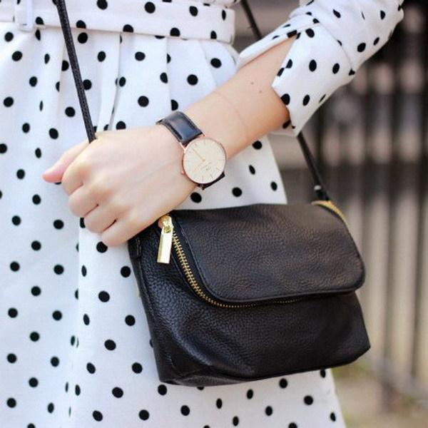 Famous Brand Design Small Fold Over Bag Mini Women Messenger bags Leather Crossbody Sling Shoulder bags Handbags Purses Zipper(China (Mainland))