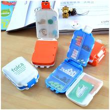 Novelty Min Bin Shape Portable Pill Box Holder Organizer Case Medicine Removerable Dispenser, 4 colors / selection(China (Mainland))