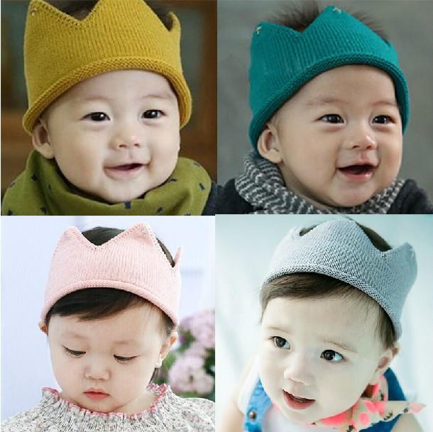 Baby crown Headband Girls Crochet hair accessories Children hair bands Soft Headwear Hair Band 1pc HB278(China (Mainland))