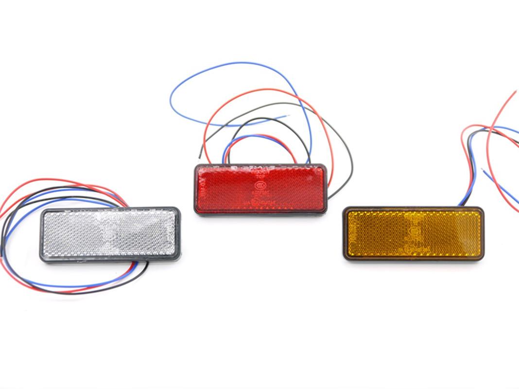 online buy whole atv 150cc tail light from atv 150cc eonstime 12v 2pcs 24 led red clear lens motorcycle rectangle tail brake light stop light truck
