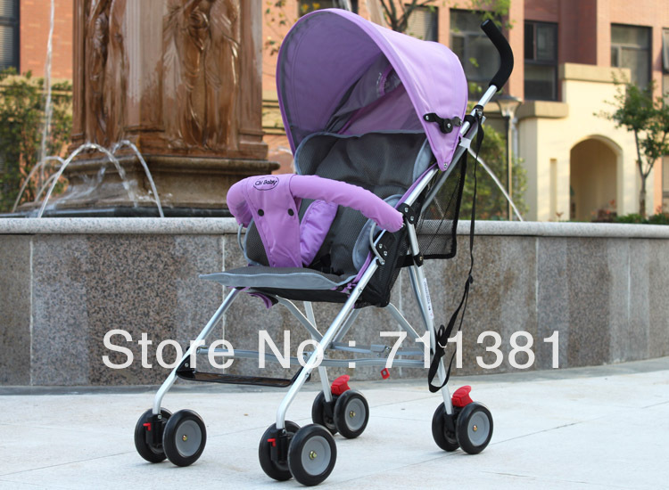100% Good Quality Adjustable Folding  Pram Carriage Stroller with Rain Cover  6 colors for selection Promotion Sale By EMS<br><br>Aliexpress
