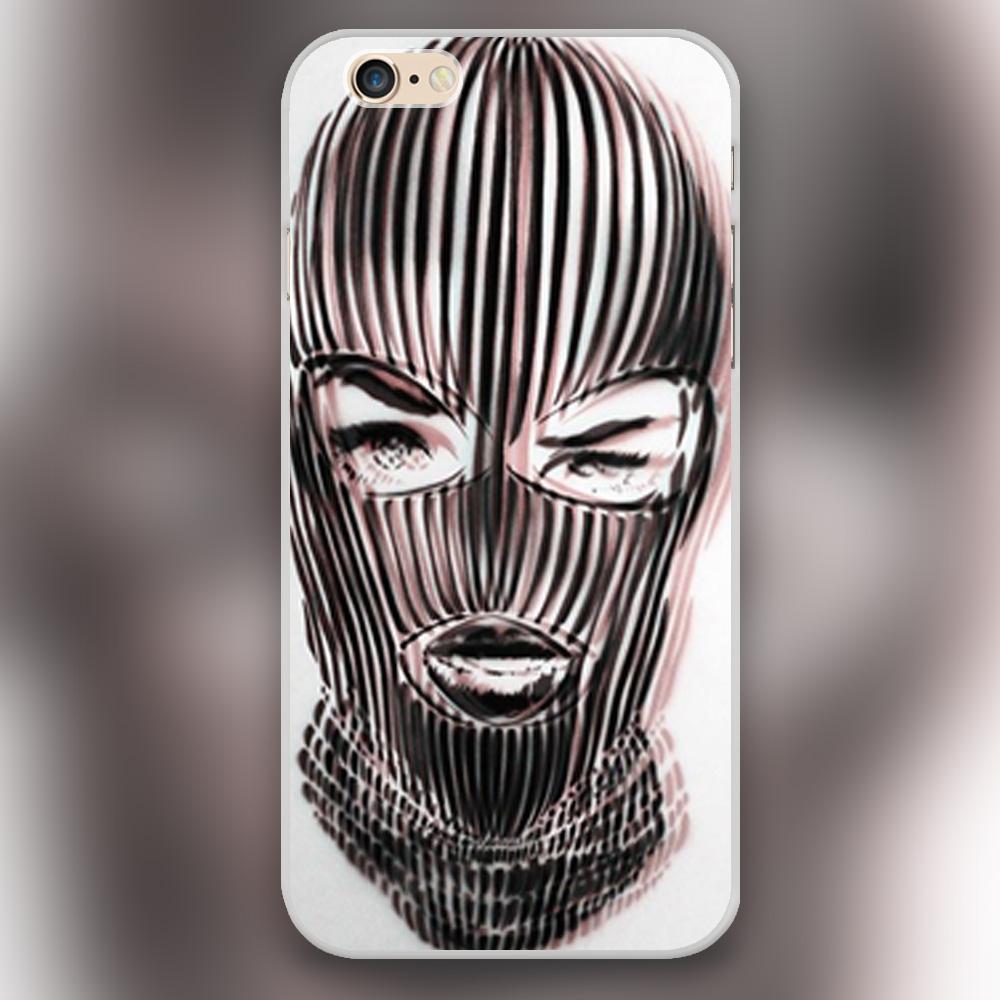 Badwood 3D Ski Mask Transparent Black White skin hard case cover phone cases for Apple iphone 4 4s 5 5c 5s SE 6 6s 6splus(China (Mainland))