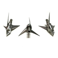 3pcs Ramcat Broadheads Bobcats Hunting Arrowhead Bow Crusader s Stainless Steel 3 Blade 100 Grain Removable