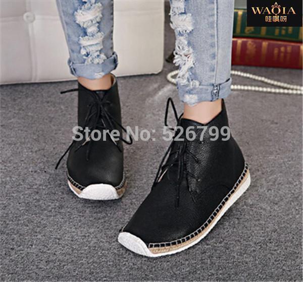 Здесь можно купить  New Hot Europe Style PU Ankle Boot Snow Boots Short Boots Plush Inside Flat-bottomed Boots for Women 2 Colors QAWA03  Обувь