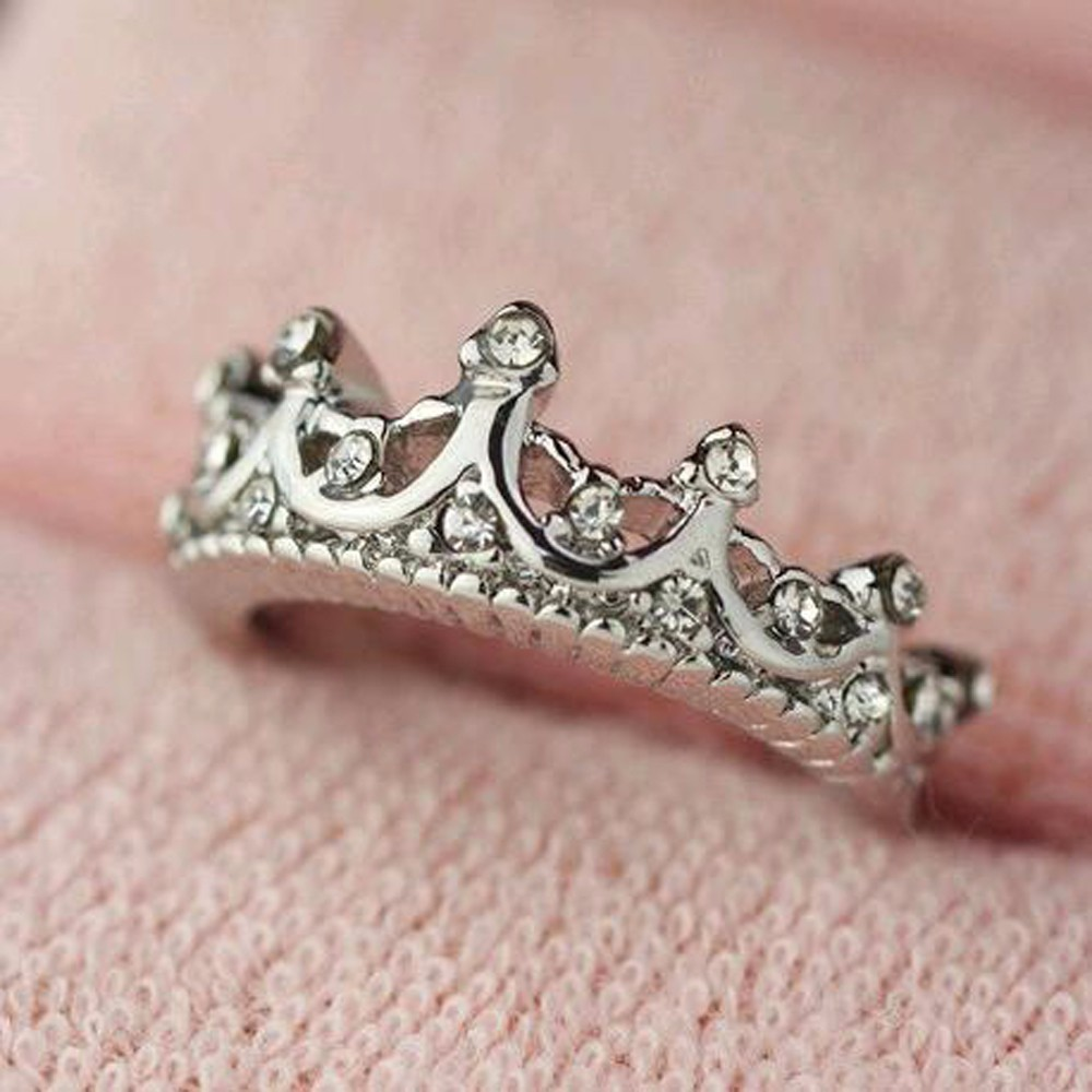 2018 Korean Style Retro Crystal Drill Hollow Crown Shaped Queen ...
