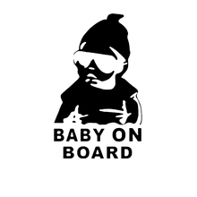 Fashion Lovely Baby On Board Warning Decal Reflective Waterproof Car Window Vinyl Stickers Color Black White HG-WS-1729(China (Mainland))