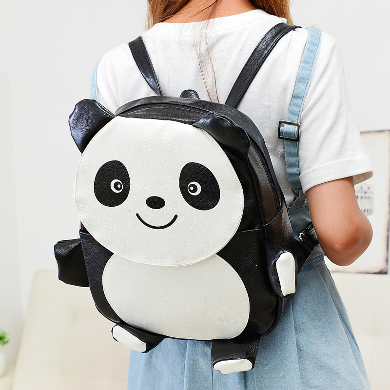 2015 girls Elephant Penguin Panda backpack,Fashion vintage book bags,Animal cute book bags for teenagers,Cartoon bookbags D2-830(China (Mainland))