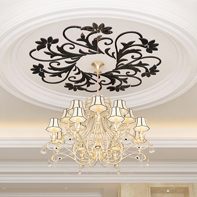 Three-dimensional acrylic mirror wall stickers living room Ceiling lamp holders background decorative - liugang9170 store