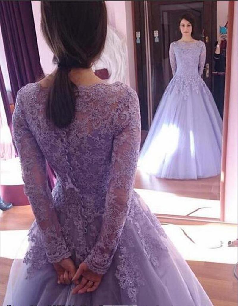 Online Get Cheap Light Purple Full Sleeve Dress -Aliexpress.com ...