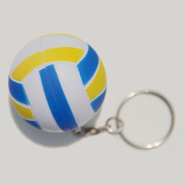 ball series 20pcs/lot mixed lot,mini PU volleyball key chain,wonderful promotion key chain,festival gift,pu key chain