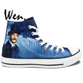 High Top Painted Shoes Men Women s Sneakers Sherlock Canvas Shoes For Skateboarding Hand Painted Art