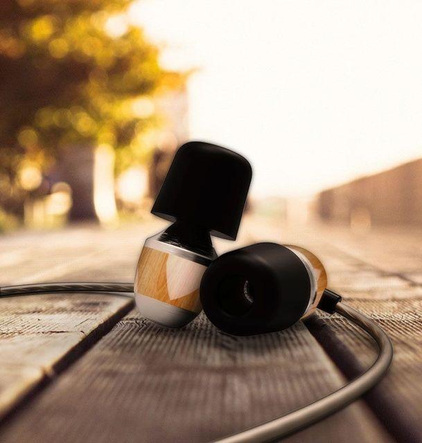 Original VJJB K4 K4S Wooden Bass In-Ear Headphone Cherry Ebony Earbuds DIY Magic Sound Headset With Mic Upgrade VJJB V1 Earphone