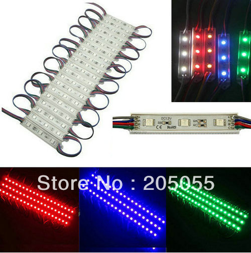 20pcs Super Bright 5050 RGB LED Module SMD 3 LEDS Light Waterproof 0.72W 12V DC led channel letter advertising(China (Mainland))