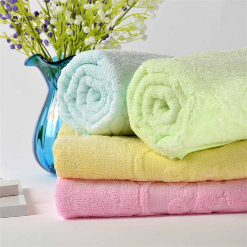Hot Bamboo Fiber Towel Home Cleaning Bath Shower Washcloth(China (Mainland))
