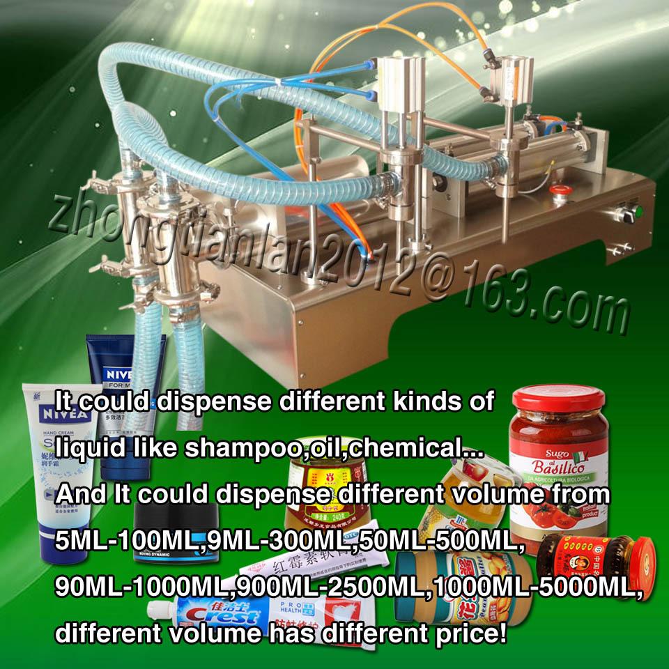 12 months guaranty 50ML-500ML liquid filling machine two heads, 110V/220V - YOLI Group company store