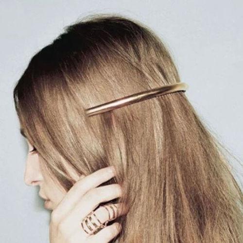 1PC Women Lady Gold/Silver Plated Plain ARC Tube Hairpin Hairgrip Hair Clips Barrette Hair Accessories(China (Mainland))