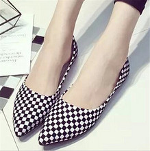 2016 new design pu leather women flat shoes spring autumn causal shoes ladies loafers pointed toe soft daily work office shoes(China (Mainland))