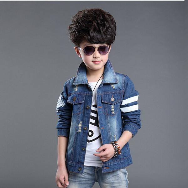 Boy Denim Jacket Coat 2015 Spring Fashion Outwear Long Sleeve Cardigan Boys Clothes Free Shipping<br><br>Aliexpress