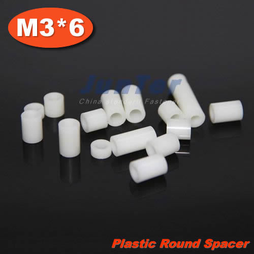 1000pcs/lot Plastic M3(ID) x 7(OD) x 6mm Length Tapped Round Standoff Spacer<br><br>Aliexpress