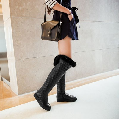 ENMAYER 2015 New Knee-High Boots Over Knee Boots For Women Sexy