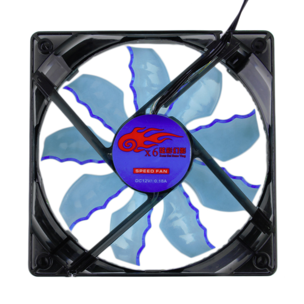 New Cool & Quiet 15 Blue/Green LED Desktop Pc Computer Case Cooling Fan Wholesale(China (Mainland))