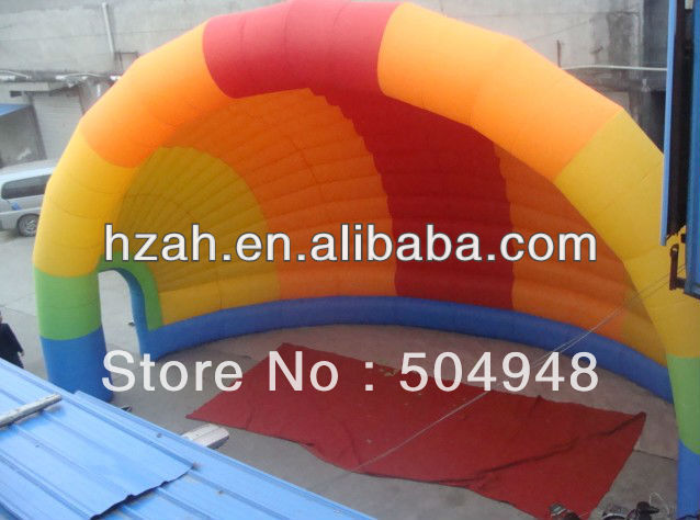Buy 8mlx4mh Rainbow Inflatable Air Arch Blower Arch