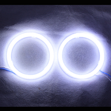 Angel Eyes COB Light  LED DRL With Cover For Car Headlights Motorcycle LED Light - 2PCS( White Color)  (China (Mainland))
