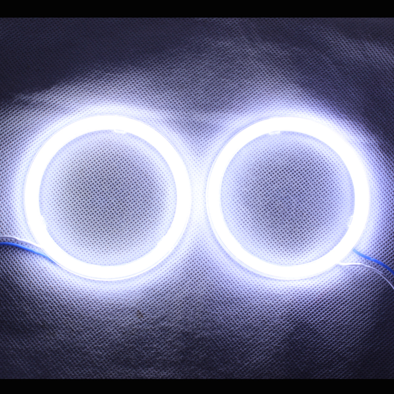 Angel Eyes COB Light LED DRL With Cover For Car Headlights Motorcycle LED Light - 2PCS( White Color)(China (Mainland))