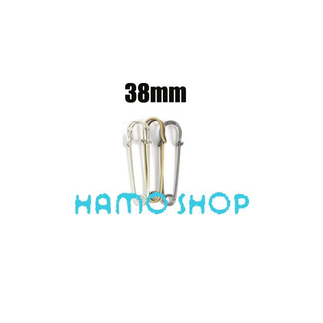 20pcs lot 38mm Mix Color Metal font b Kilt b font Pin Large Safety Brooch Pins